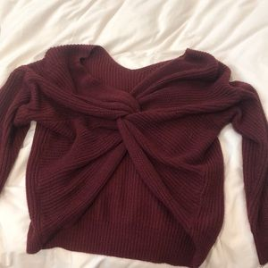 Sweaters - reversible twisted sweater